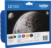 zestaw Brother LC-1000-BK C M Y