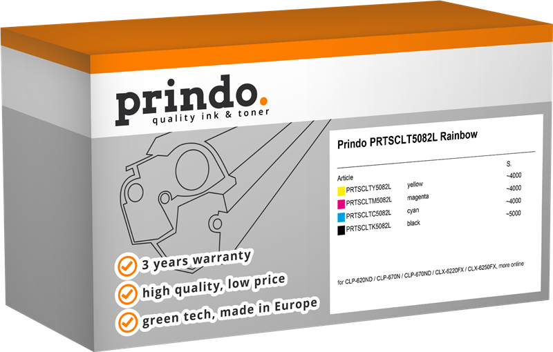value pack Prindo PRTSCLT5082L Rainbow